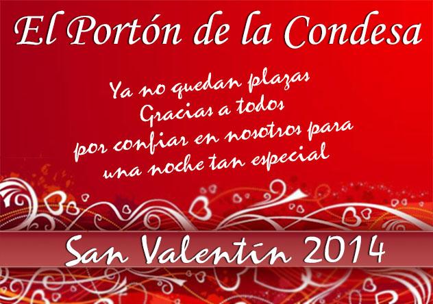 San Valentín 2014 - Cena romántica - Música en Directo - Dj y barra libre