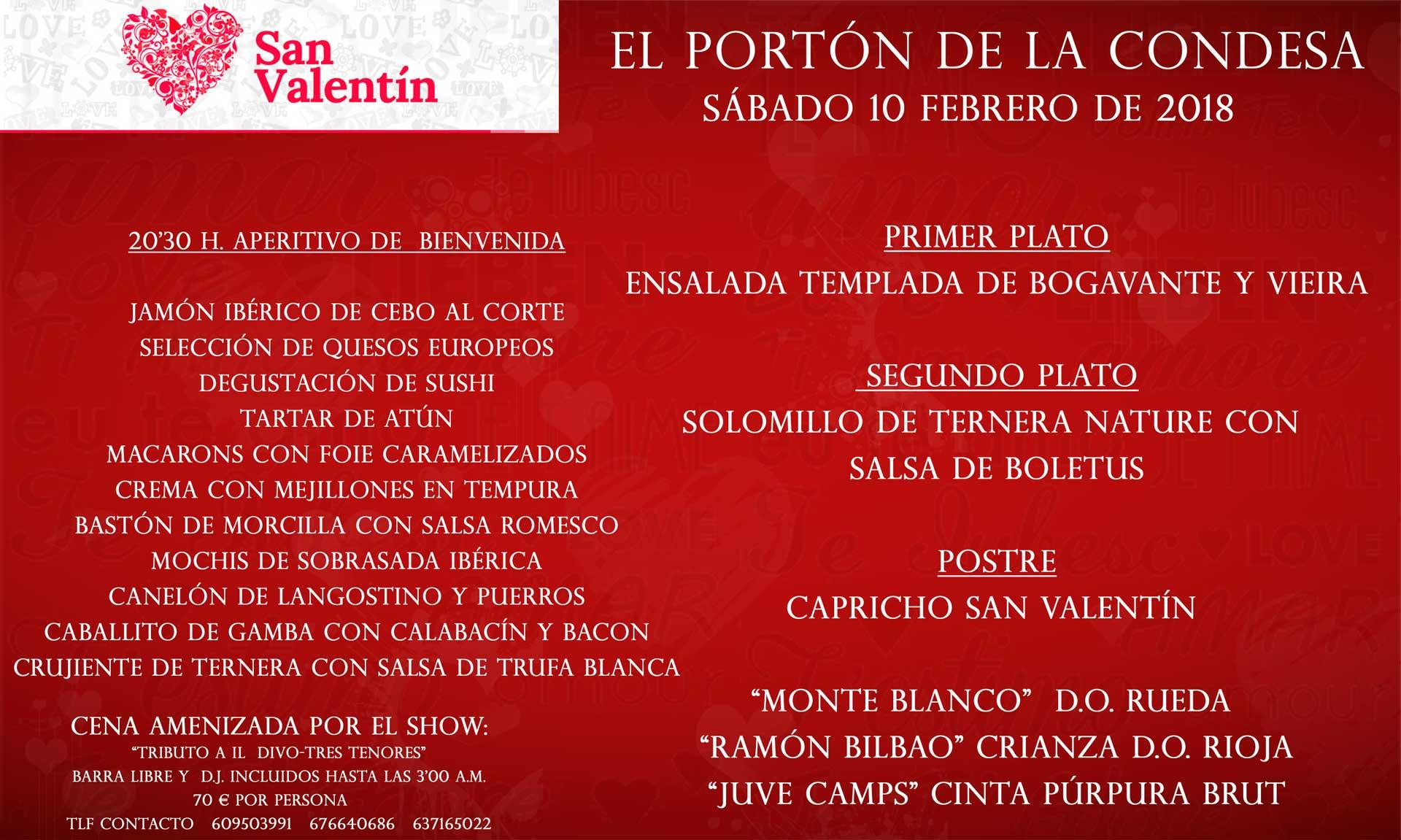 cena san valentín 2018 Murcia